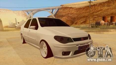 Fiat Albea für GTA San Andreas Rückansicht