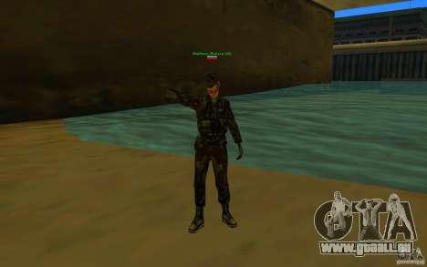 HQ skin Army pour GTA San Andreas deuxième écran