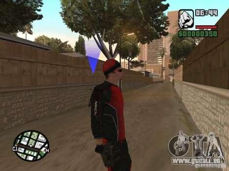 Skydiver für GTA San Andreas dritten Screenshot