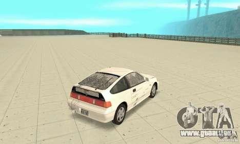 HONDA CRX II 1989-92 pour GTA San Andreas vue de dessus