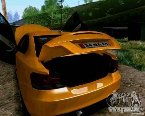 BMW 135 Tuning pour GTA San Andreas vue arrière