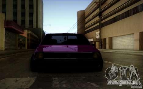 Volkswagen Polo Pickup für GTA San Andreas Rückansicht