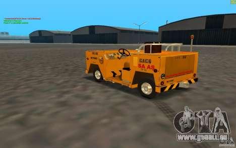 Airport Service Vehicle pour GTA San Andreas sur la vue arrière gauche
