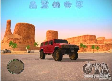 Patriote de GTA 4 pour GTA San Andreas sur la vue arrière gauche