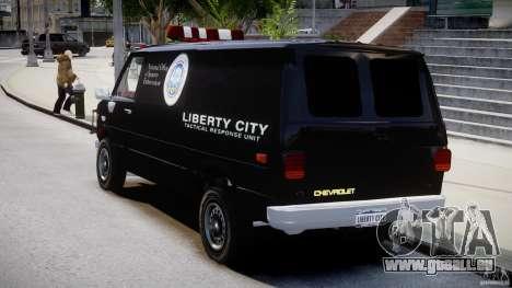 Chevrolet G20 Van V1.1 pour GTA 4 Vue arrière de la gauche