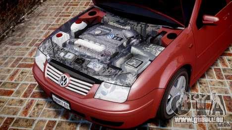 Volkswagen Bora für GTA 4 Innenansicht