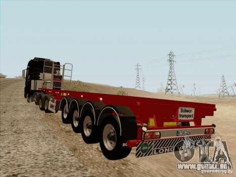 MAN TGX 8 x 4 trailer für GTA San Andreas