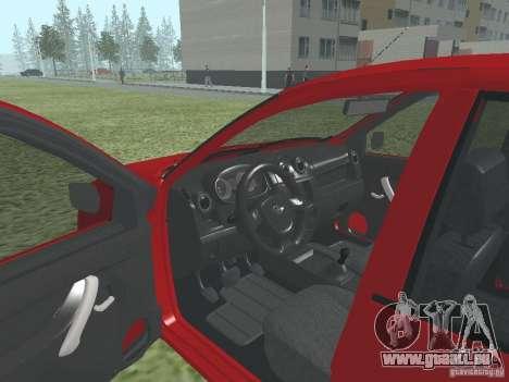 VAZ 2192 für GTA San Andreas Rückansicht