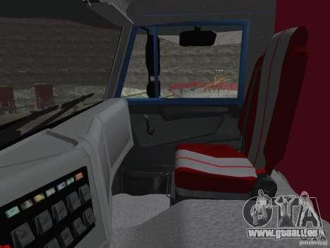 KAMAZ 65222 für GTA San Andreas Innenansicht