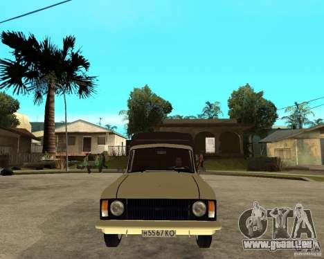 IZH 2715 « Moskvich » pour GTA San Andreas vue arrière
