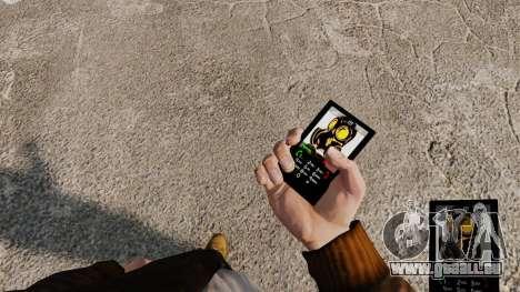 Das Thema der Mercenaries 2 für Mobiltelefone für GTA 4
