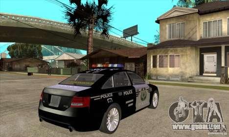 Audi A6 Police pour GTA San Andreas vue de droite