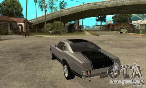 Sabre de GTA 4 pour GTA San Andreas sur la vue arrière gauche