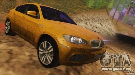BMW X6M E71 v2 für GTA San Andreas Innenansicht