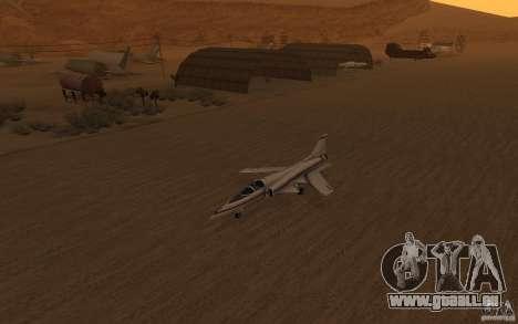 Grumman X29A pour GTA San Andreas laissé vue