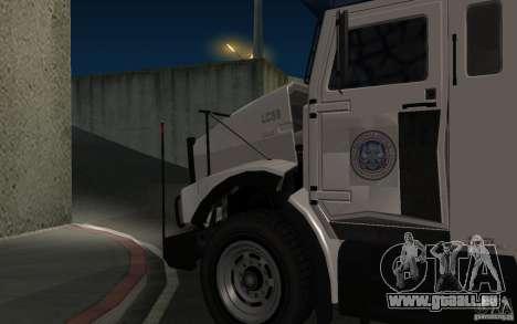 Securicar de GTA IV pour GTA San Andreas sur la vue arrière gauche