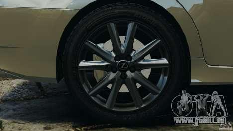 Lexus GS350 2013 v1.0 pour GTA 4 vue de dessus