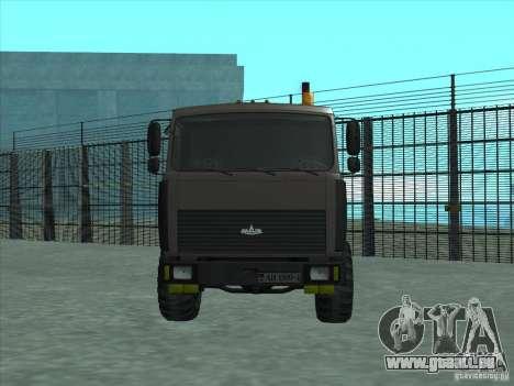 Manipulateur MAZ 6317 pour GTA San Andreas laissé vue