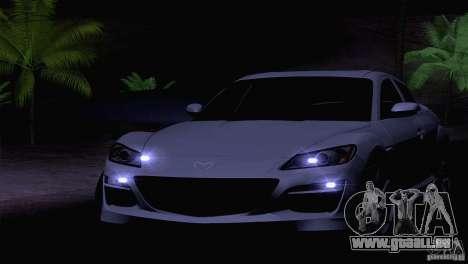 Mazda RX8 R3 2011 für GTA San Andreas Innenansicht