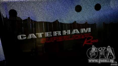 Caterham 7 Superlight R500 pour GTA 4 vue de dessus