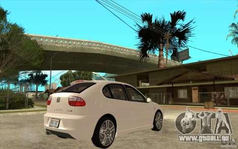 Seat Leon Cupra - Stock für GTA San Andreas rechten Ansicht