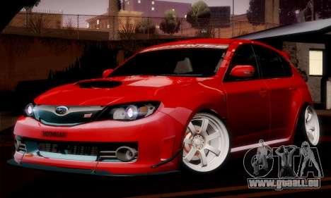 Subaru Impreza WRX Camber pour GTA San Andreas sur la vue arrière gauche