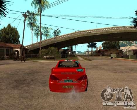 Peugeot 307 WRC pour GTA San Andreas sur la vue arrière gauche