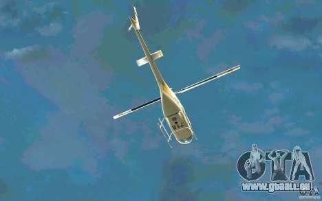 Bell 206 B Police texture4 pour GTA San Andreas vue de côté