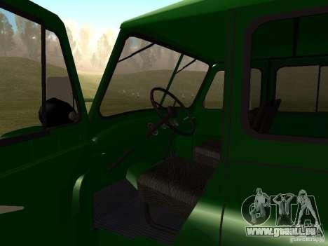 UAZ 469 militaire pour GTA San Andreas vue arrière