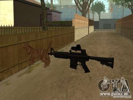Schalldämpfer auf der M4 stattdessen Katze für GTA San Andreas