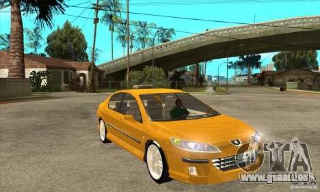 Peugeot 407 pour GTA San Andreas vue arrière