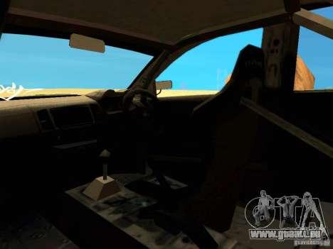 Mitsubishi Lancer Evolution X Time Attack pour GTA San Andreas vue de dessus