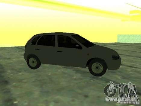 LADA Kalina de 1119 à hayon pour GTA San Andreas sur la vue arrière gauche