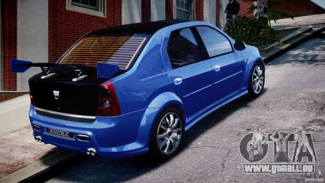 Dacia Logan 2008 [Tuned] pour GTA 4 vue de dessus