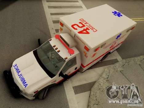 Ford F350 Super Duty Chicago Fire Department EMS pour GTA San Andreas vue de côté
