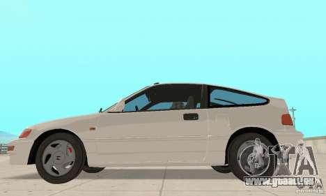 HONDA CRX II 1989-92 pour GTA San Andreas laissé vue