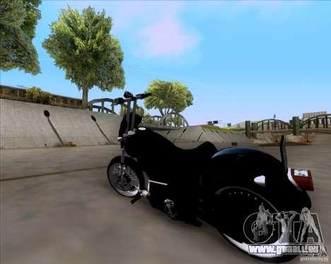 Harley Davidson FXD Super Glide pour GTA San Andreas laissé vue
