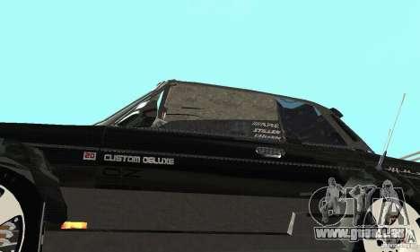 Tunning de VAZ 2106 Fantasy ART pour GTA San Andreas vue intérieure