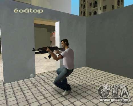 AK-47 mit einem Grenade Launcher М203 für GTA Vice City zweiten Screenshot
