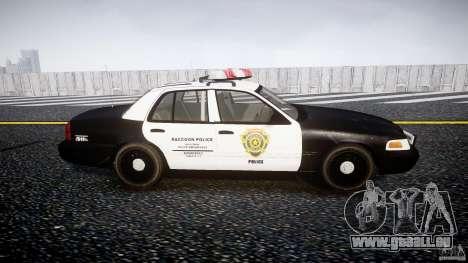 Ford Crown Victoria Raccoon City Police Car pour GTA 4 est une vue de l'intérieur