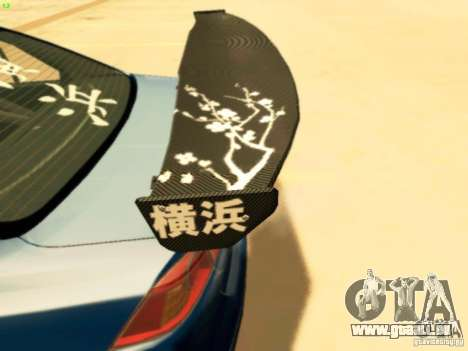 Mitsubishi Lancer Evolution X Time Attack pour GTA San Andreas vue de droite