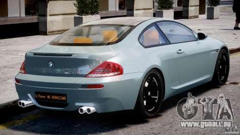 BMW M6 G-Power Hurricane pour GTA 4 vue de dessus