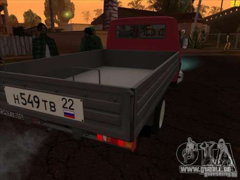 Gazelle 33021 für GTA San Andreas linke Ansicht