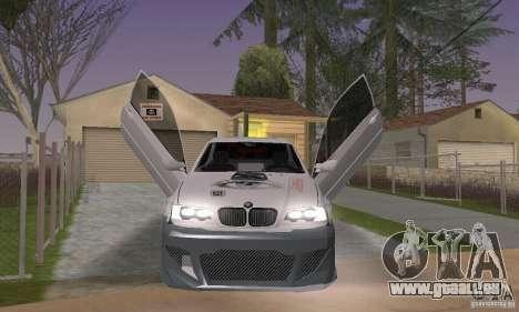 BMW M3 Hamman Street Race pour GTA San Andreas vue arrière