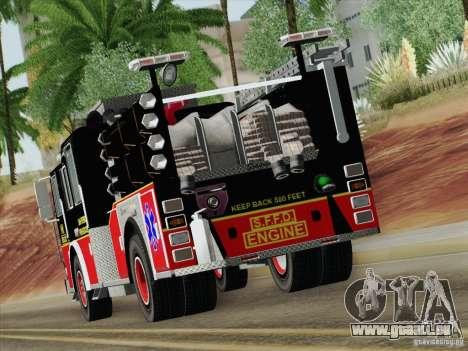 Seagrave Marauder Engine SFFD für GTA San Andreas Seitenansicht