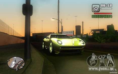 Lamborghini Miura Concept pour GTA San Andreas vue arrière