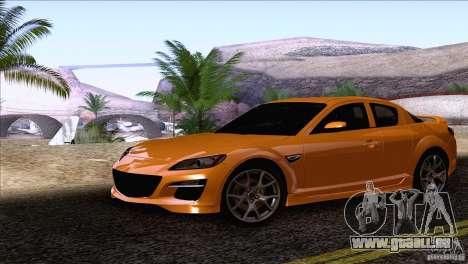 Mazda RX8 R3 2011 pour GTA San Andreas sur la vue arrière gauche