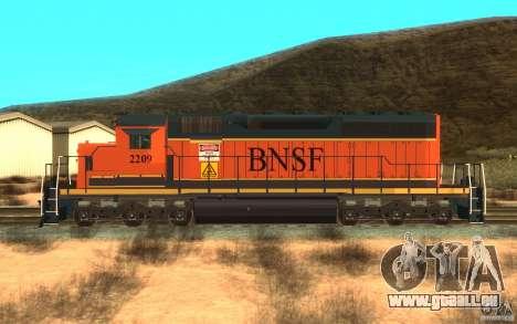 Locomotive SD 40 Union Pacifique BNSF pour GTA San Andreas laissé vue