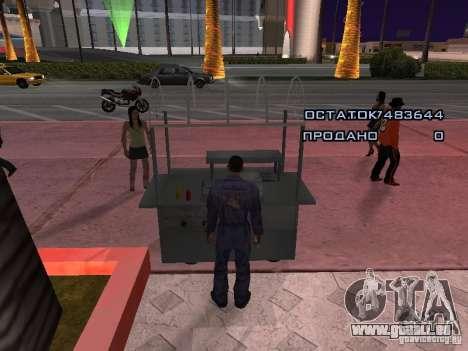 Vendeur de Hot-Dog pour GTA San Andreas troisième écran