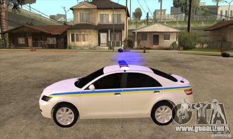 Toyota Camry 2010 SE Police UKR pour GTA San Andreas laissé vue